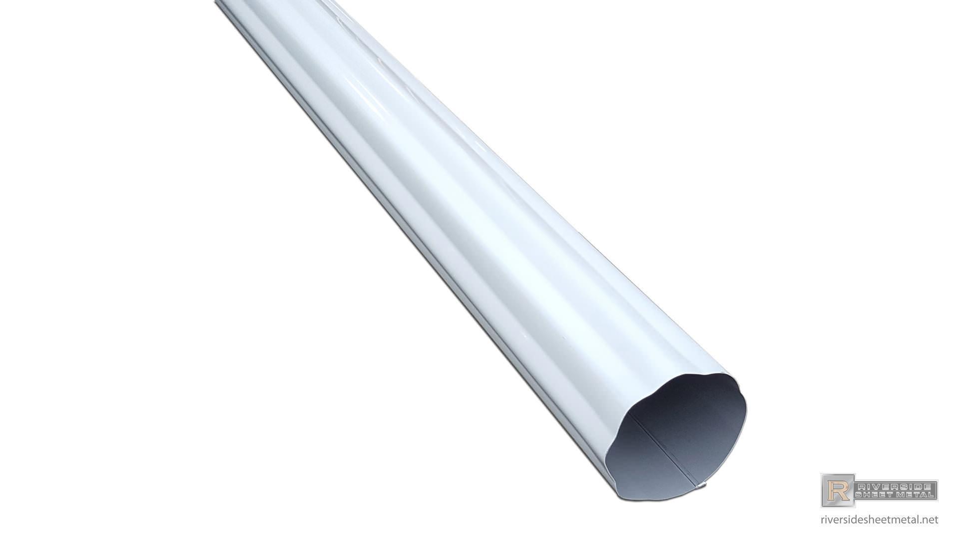 Round Corrugated Aluminum Gutter Downspout 2 Quot 3 Quot 4 Quot 5