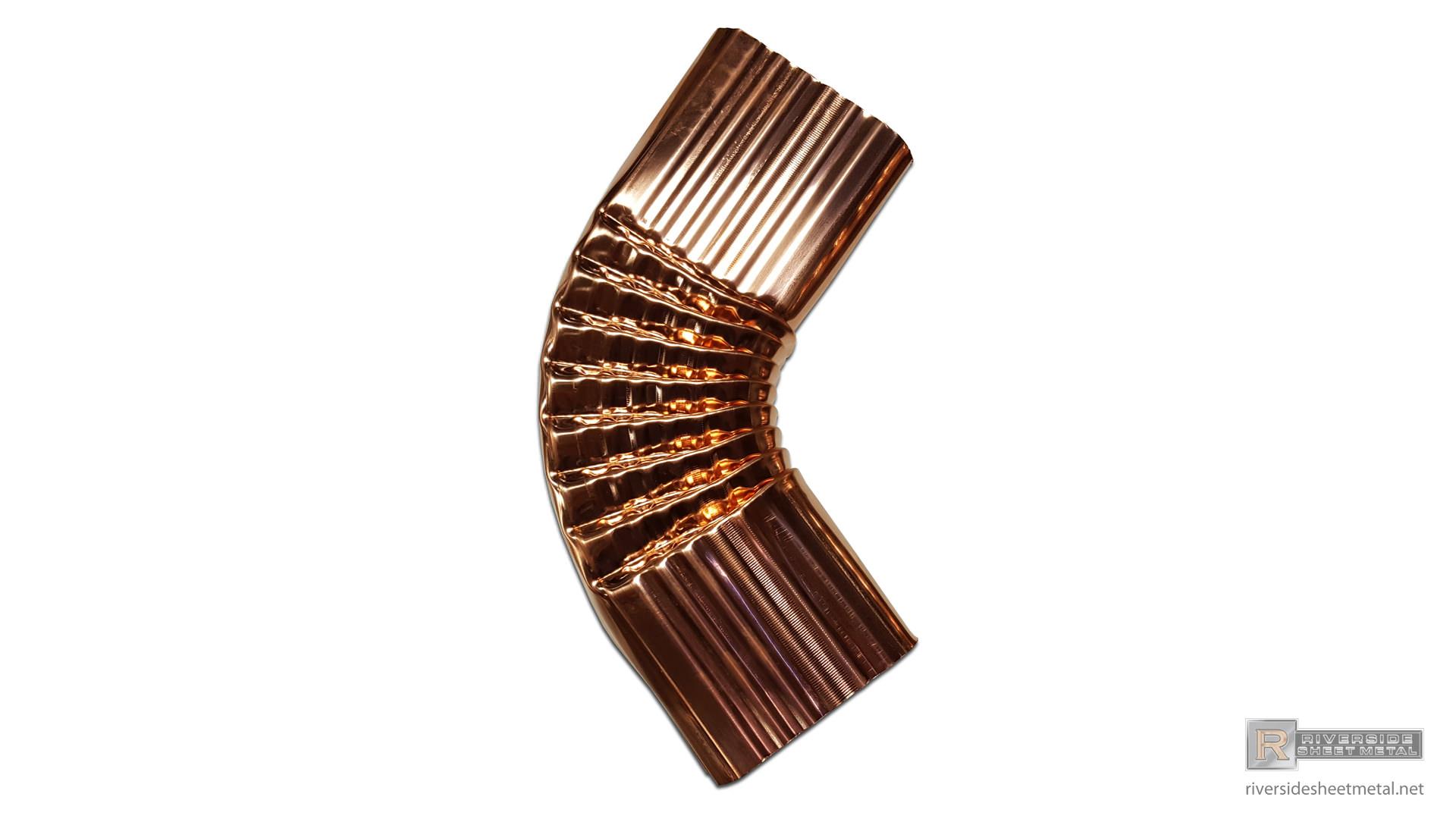 Corrugated Copper Gutter B Elbow 2 Quot X 3 Quot 3 Quot X 4 Quot And