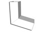 Square plain smooth aluminum gutter A elbow - view 2