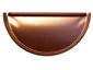 Half-round copper gutter end cap
