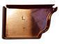 k-style copper gutter end cap