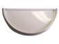 Half-round white aluminum gutter end cap