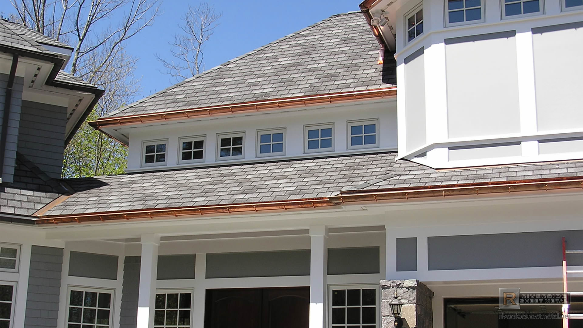 Half Round Copper Gutters With Under Mount Hangers Ma