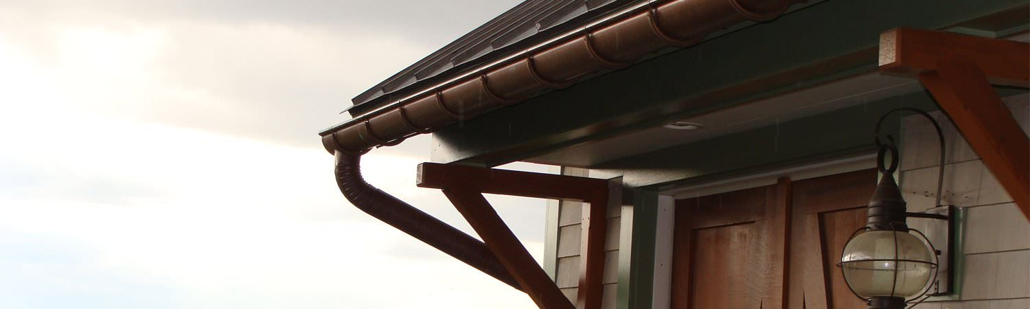 K-style and half-round copper gutters