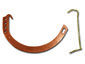 Circle copper half-round gutter hanger