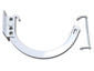 Shank and circle combo 10 white aluminum hanger for half-round gutter