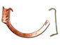 Shank and circle combo 10 copper hanger for half-round gutter