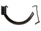 Shank and circle combo 10 dark bronze aluminum hanger for half-round gutter