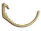 Weathered cast brass half-round gutter hanger