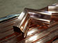 Custom copper ogee gutter inside box miter - view 2