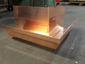 Custom copper ogee gutter outside box miter - view 2