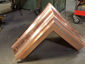 Custom copper ogee gutter outside box miter - view 6