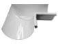 Half-round gutter inside box miter white aluminum - view 2