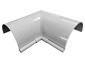 Half-round gutter inside box miter white aluminum - view 3