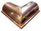 Half-round gutter outside box miter copper - view 3