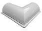 Half-round gutter outside box miter white aluminum - view 3