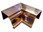 K-style gutter inside box miter copper - view 3