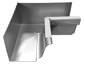 K-style gutter inside box miter white aluminum - view 2