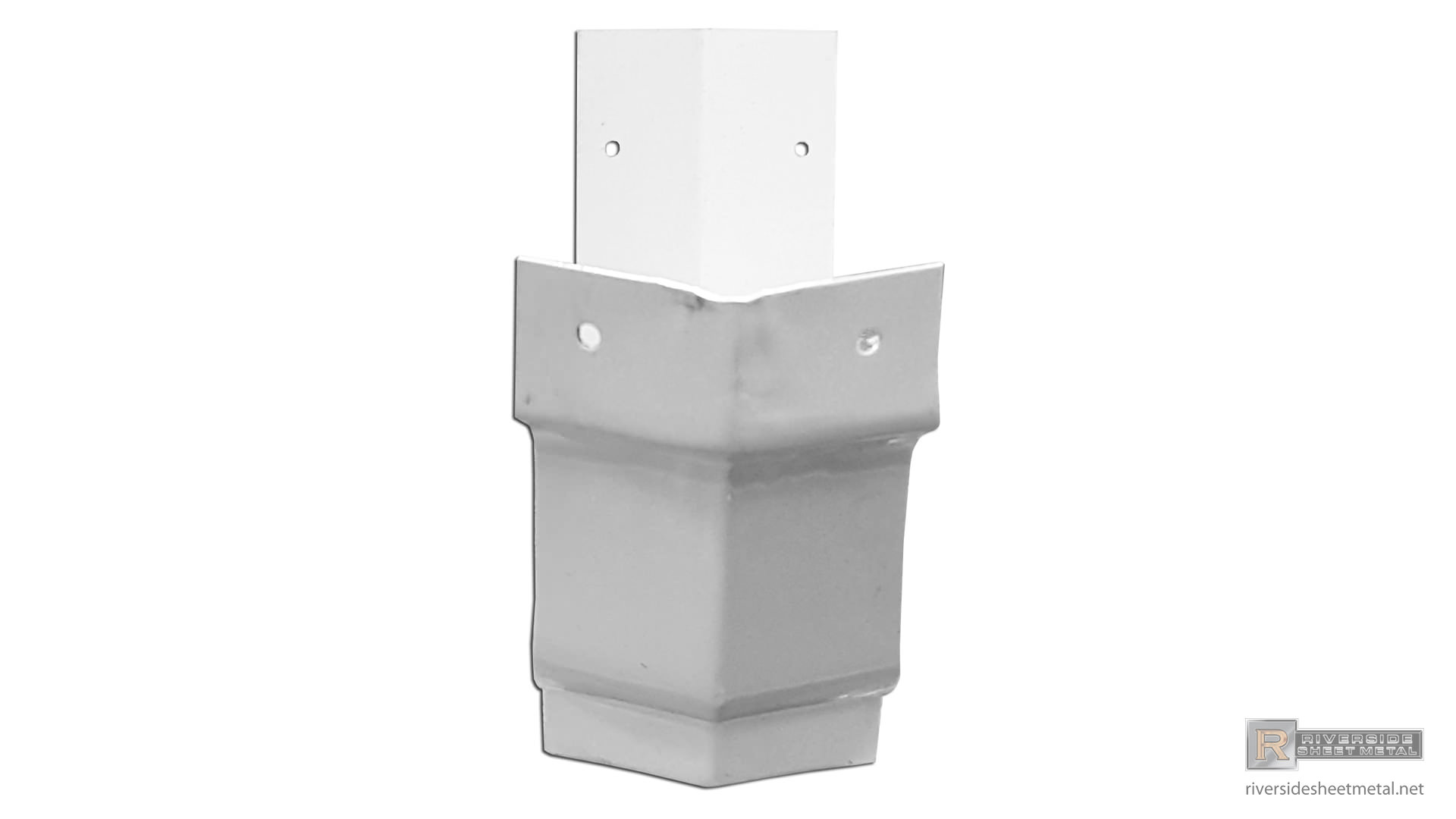 5 Quot Amp 6 Quot K Style White Aluminum Outside Bay Strip Miter 90 176