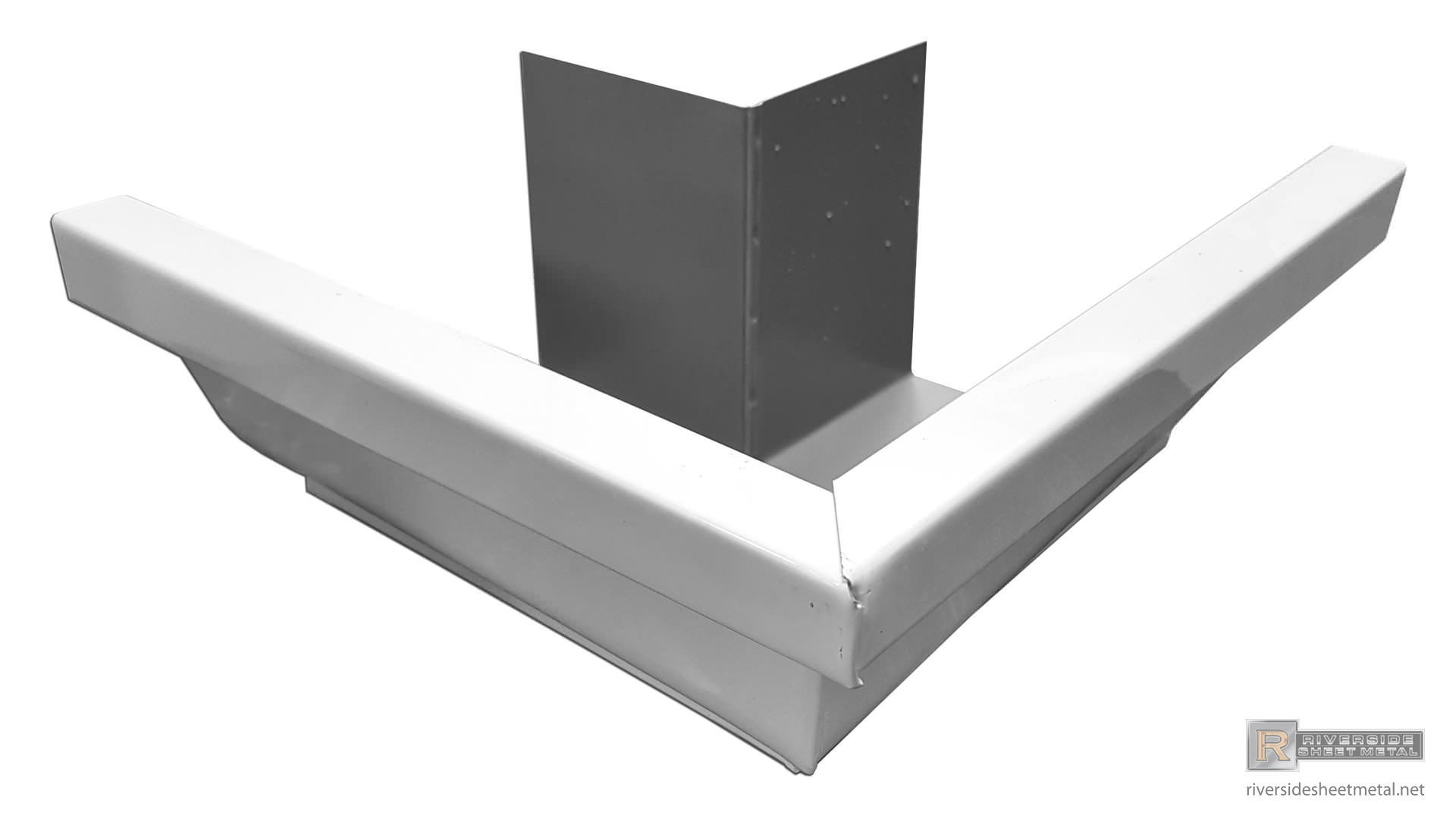 5 Quot Amp 6 Quot K Style White Aluminum Outside Box Miter 90 176