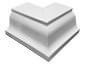 K-style gutter outside box miter white aluminum - view 3