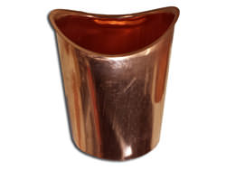 Half-round copper gutter outlet