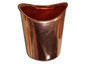 Half-round copper gutter outlet - view 1