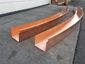 Custom radius copper box gutter - view 4