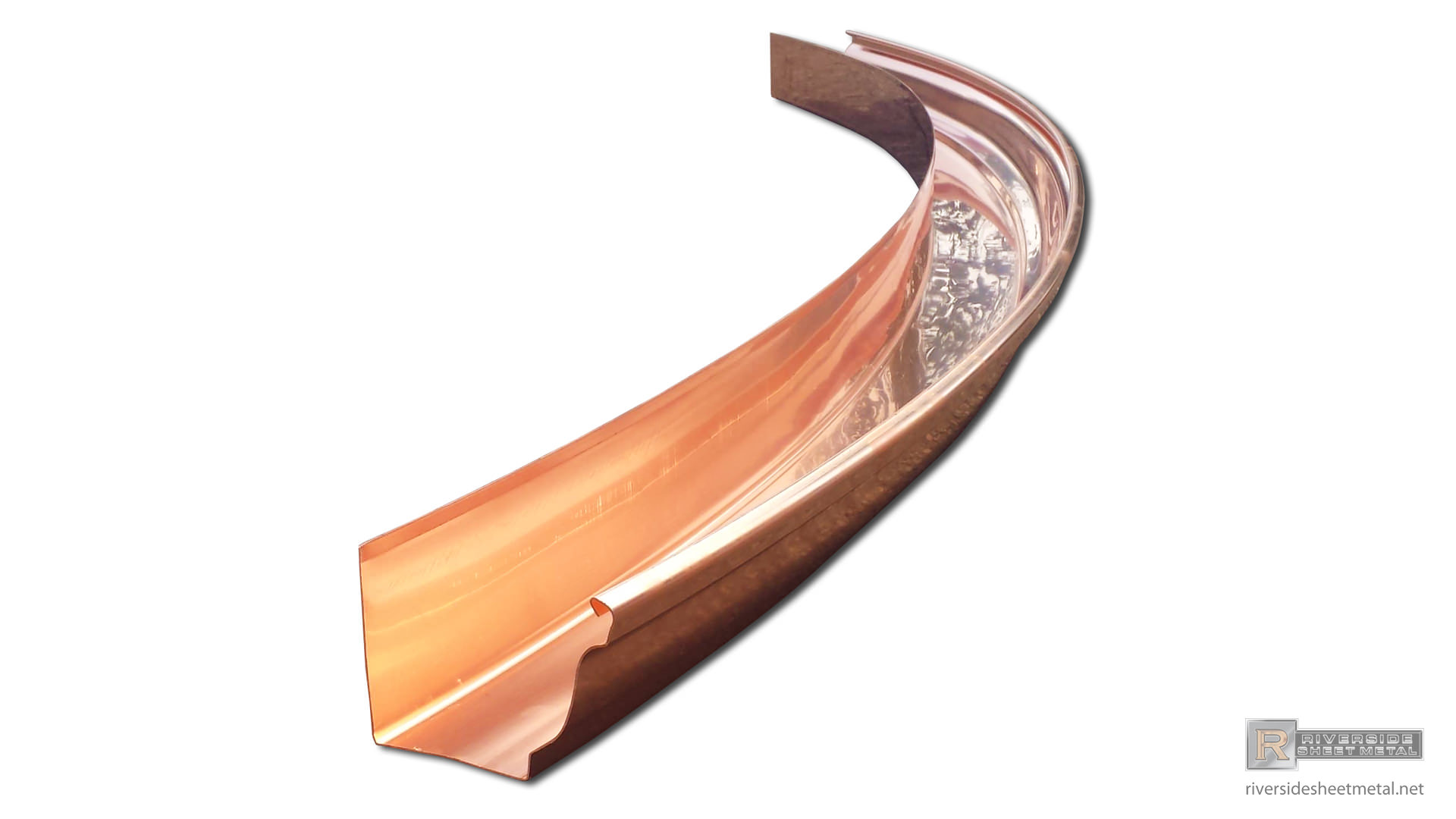 Radius Gutters K Style Half Round Box Curved Copper