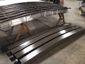 Custom radius bronze aluminum box gutter - view 1