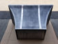 Curved zinc range hood with rivets, stainless steel banding and patina - view 5