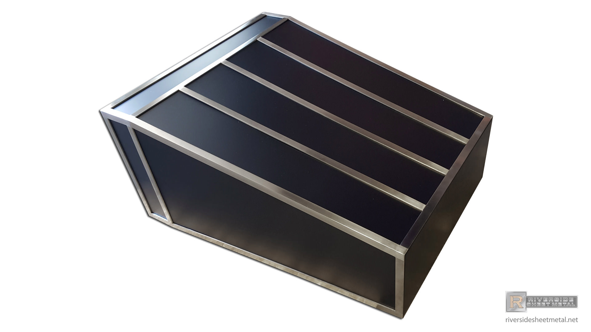Custom Black Hood Vent Powder Coated With Stainless Steel