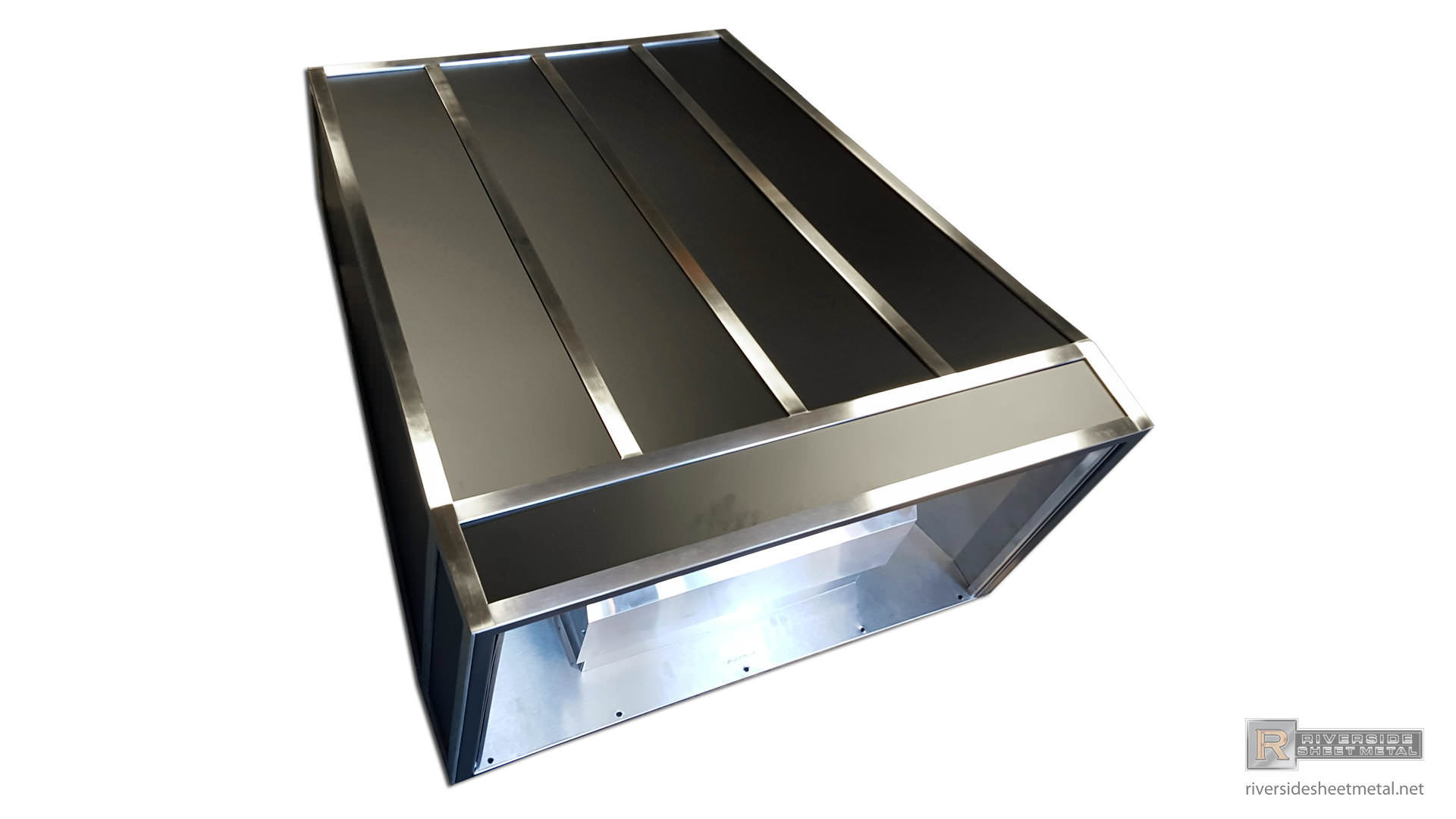 Steel Hood Vent Powder Coated Black With A French Curve Style Bell Range