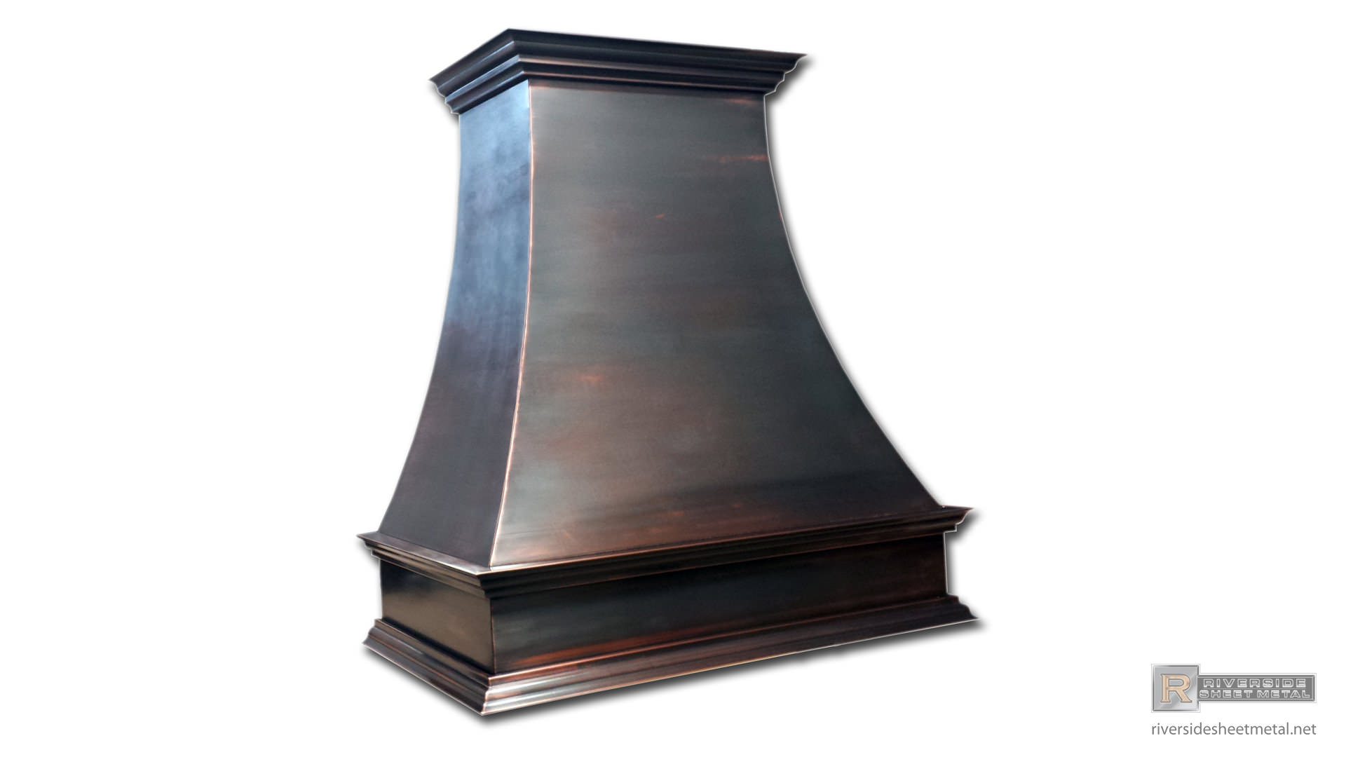 Black Patina Custom Made Copper Hood Vent Riverside Boston