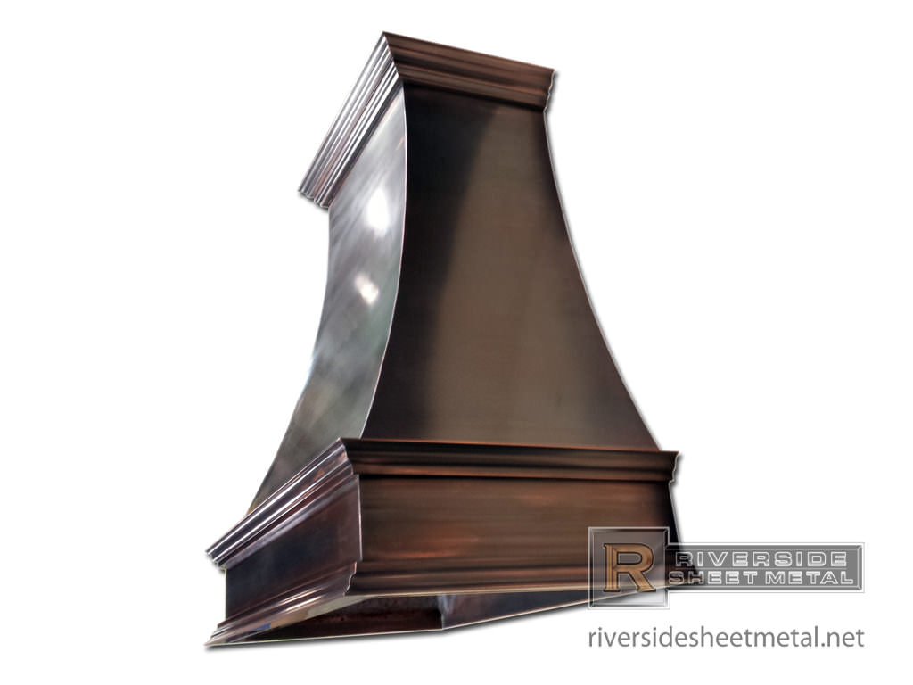 Black patina custom made copper hood vent riverside boston