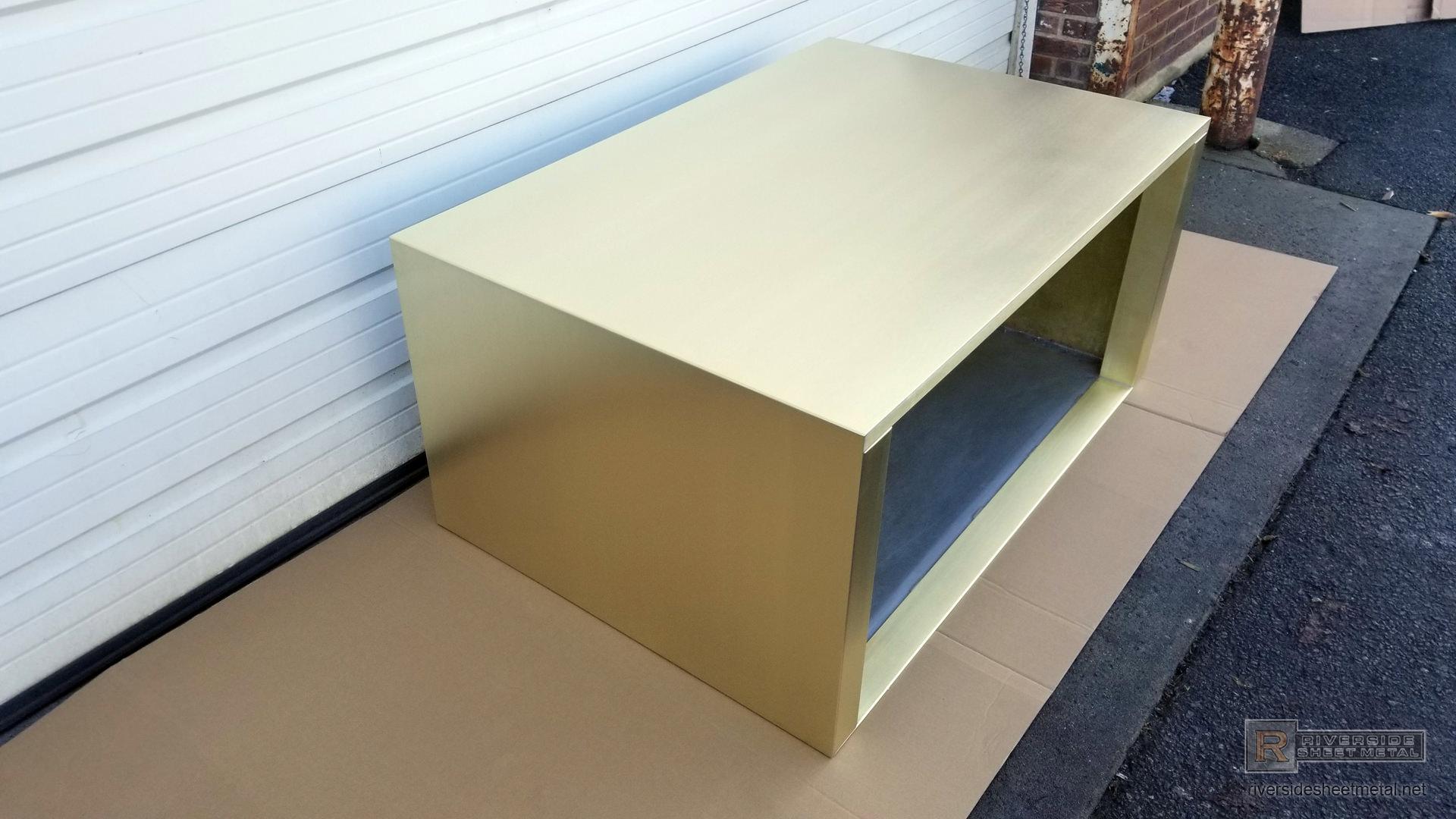 Brushed Brass Range Hood For Kitchen Custom Made To Order