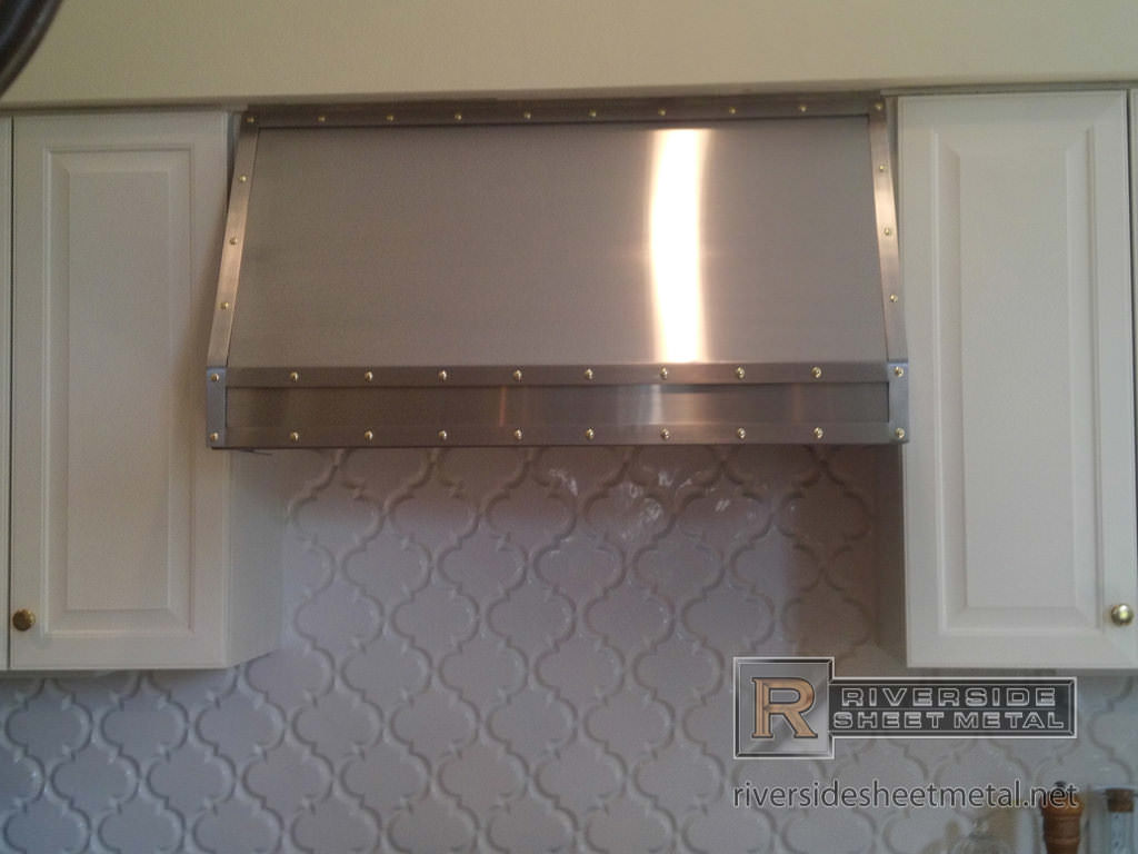 Stainless Steel Hood Vent Cover With Bar And Rivets