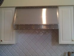 Stainless steel hood vent installation