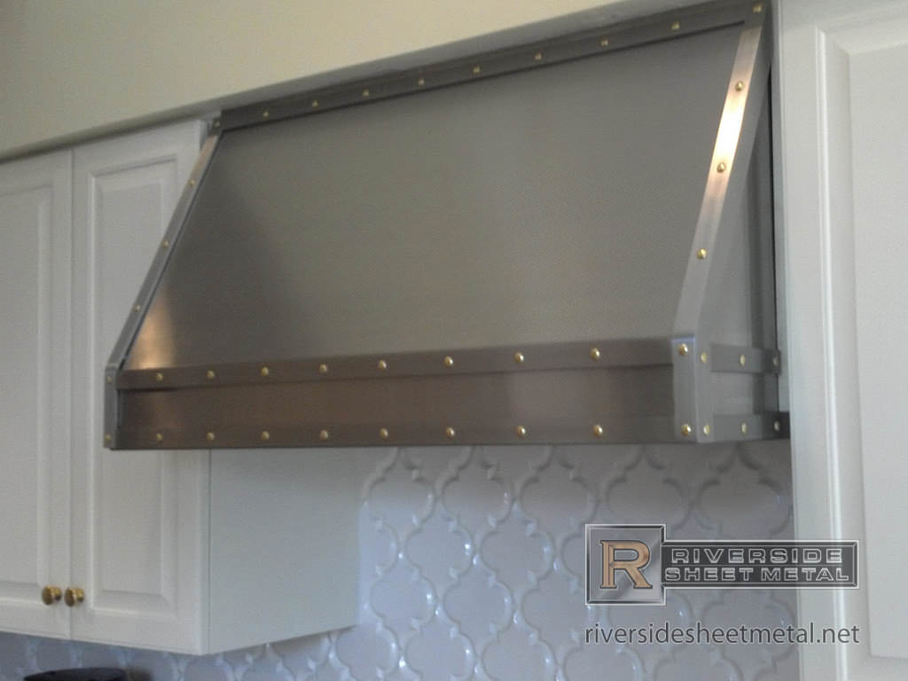 Stainless Steel Custom Hood Vent With Band And Brass Rivets