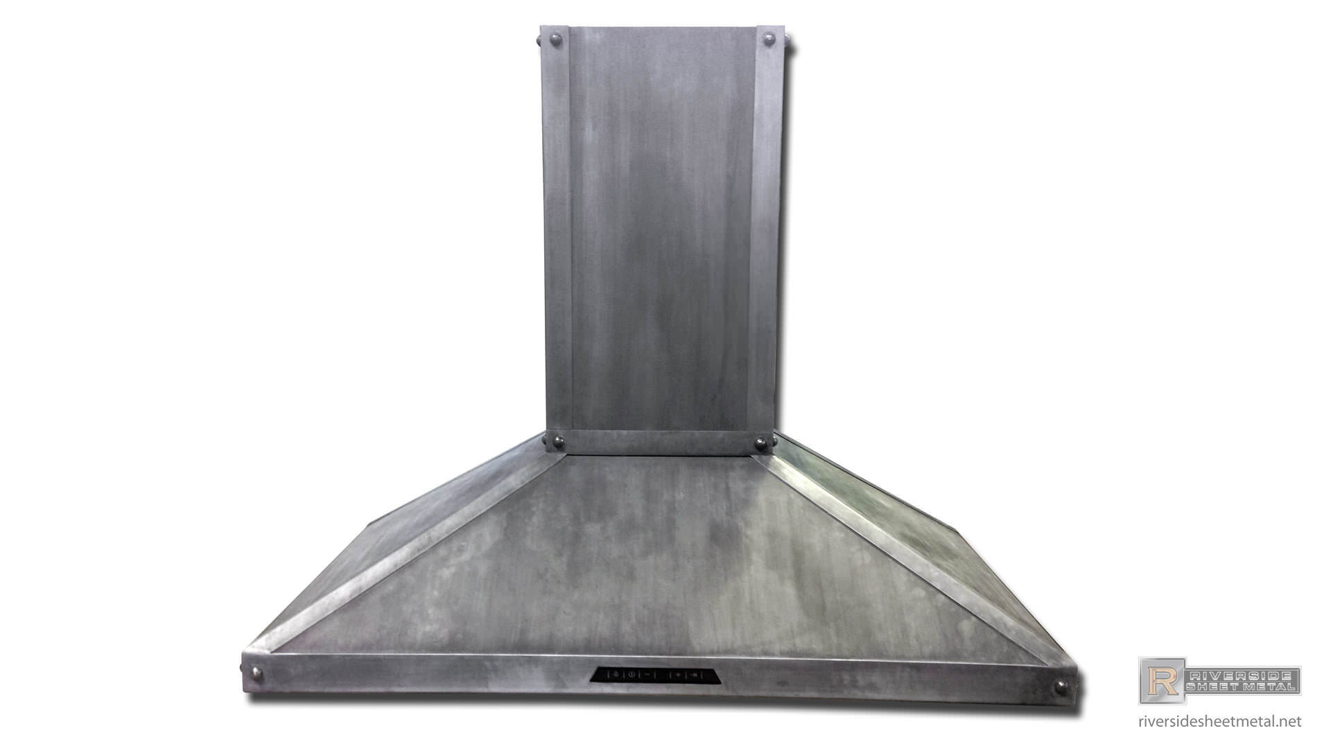 Thermador Stainless Steel Hood Vent Covered With Dark