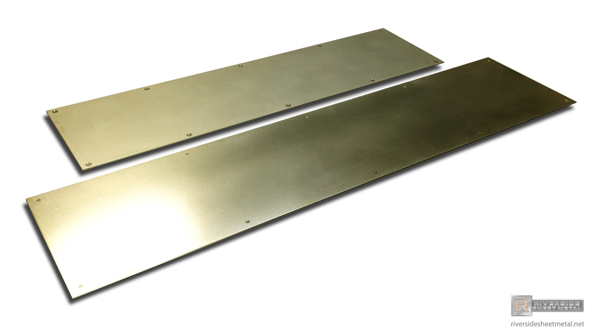 Brass Kick Plate With Pre Drilled Holes Custom Ma