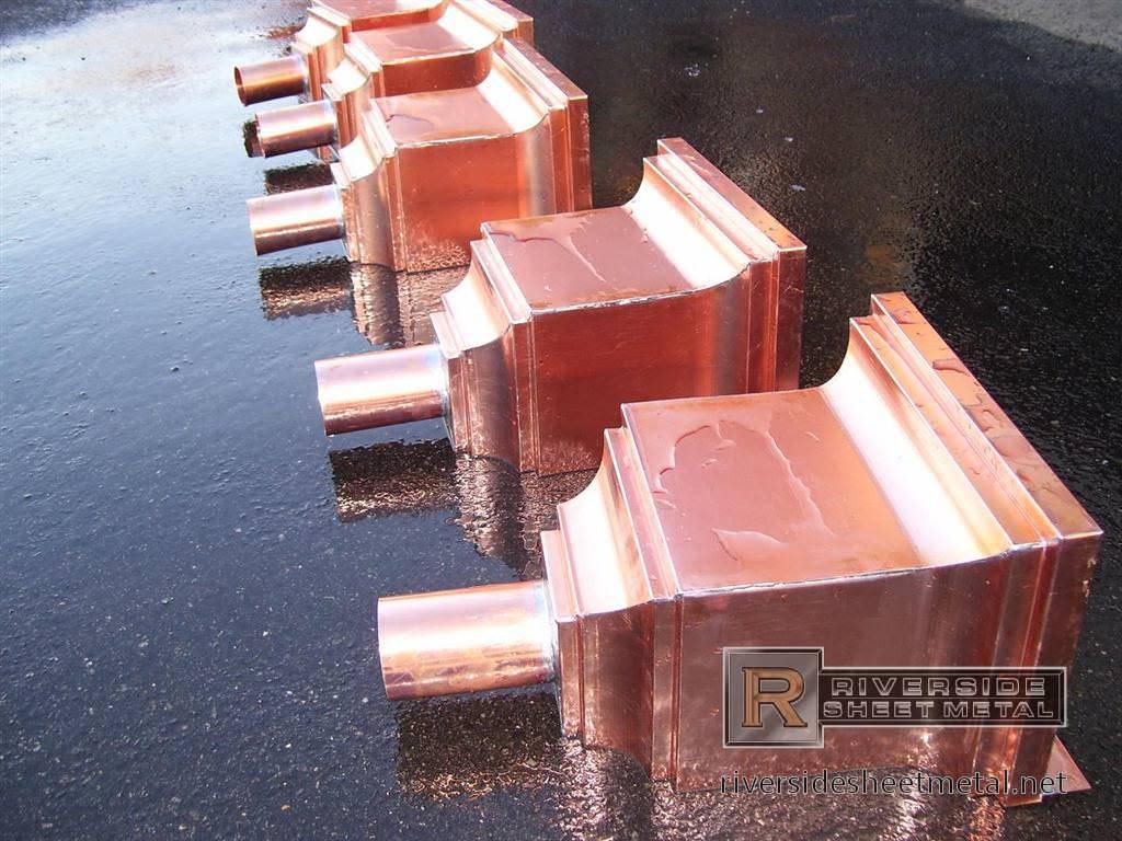 Aluminum Gutter Downspout Sizes Chris Industries Copper