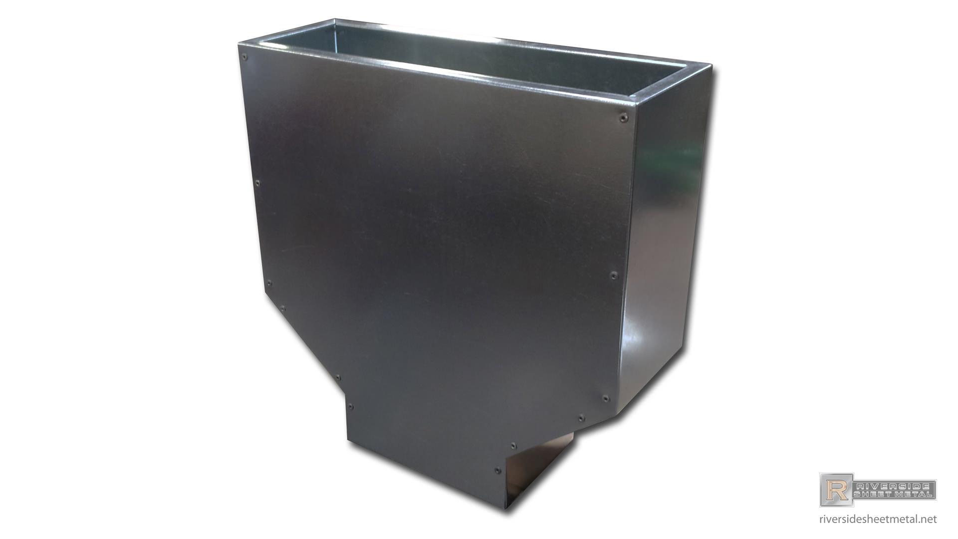 Galvanized Steel Simple Custom Leader Head