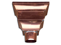 Federal style copper leader head