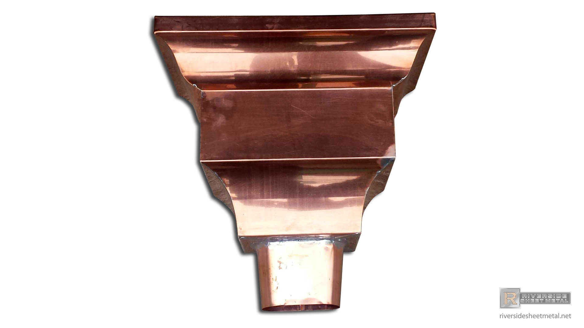 Federal Style Leader Head 3 Quot 4 Quot 5 Quot Amp 6 Quot Copper And