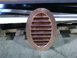 Oval shaped copper louver