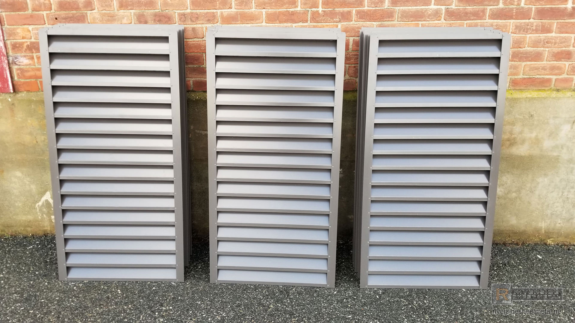 Custom Made Bronze Aluminum Louvers