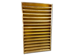 Custom made brass louver