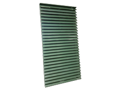 Hartford green custom aluminum louver