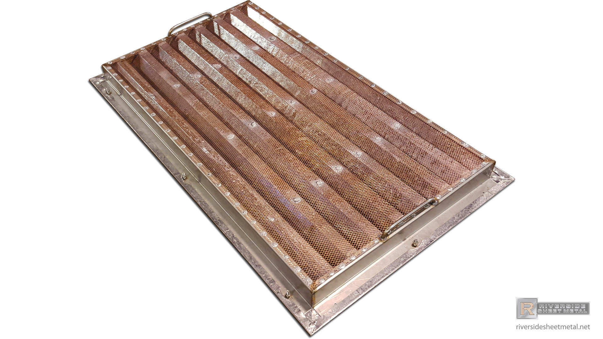 Leaded Copper Sheets : Lead coated copper custom louver with stainless steel frame